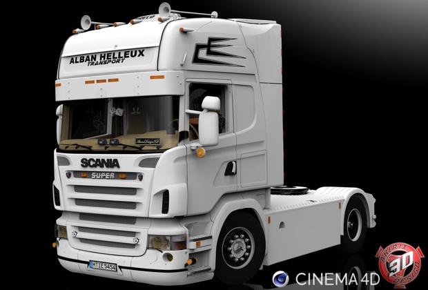 3D Scania R500 V8 Alban Helleux