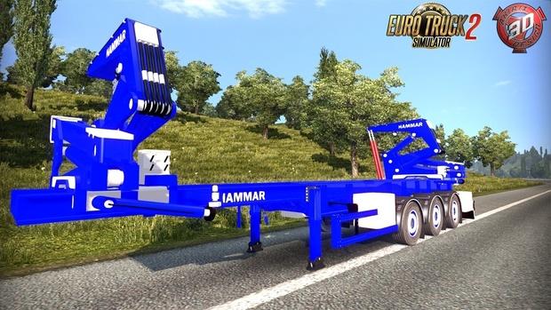 ETS2 Hammar Self Loader Container Trailer
