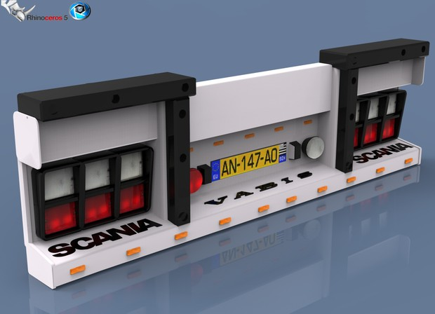 3D Backbumper For Trailers Model
