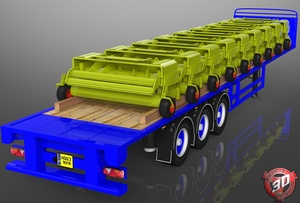 3D SDC Flatbed Harvesters Load