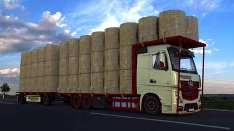 3D Model of Mercedes Benz MPIV Tandem Bale Transport