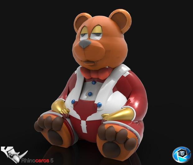 3D bear model (not finished)