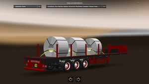 Coil Transport Trailer Loaded Version ETS2