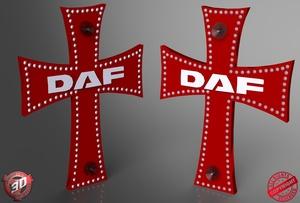 3D Daf Cross Decoration Model