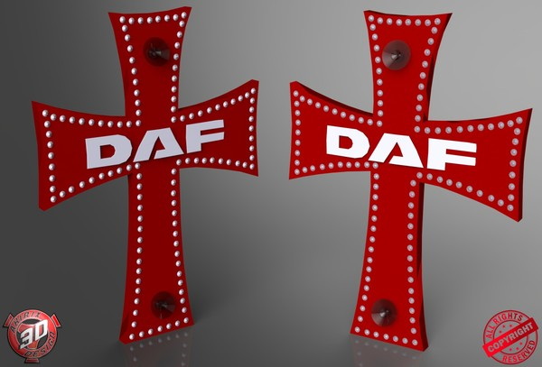 3D Daf Cross Decoration Model