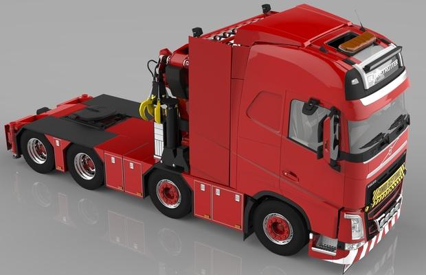 3D Volvo FH 8×4 Model