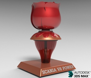 3D Scania Dashboard Lamp Model
