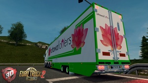 ETS2 2 Axled Flower Trailer Model