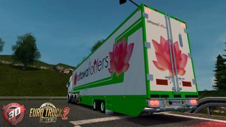 ETS2 2 Axled Flower Trailer Model