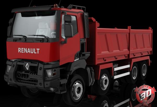 3D Renault K Range 8x4 Dumper