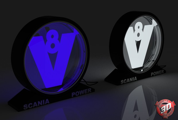 3D V8 Light Decoration Lamp Model