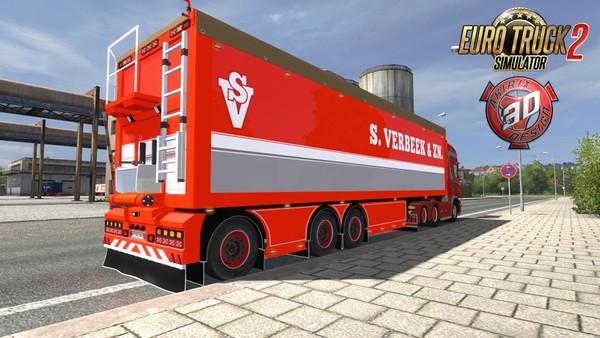ETS2 S.Verbeek Trailer Model