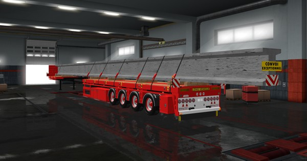 ETS2 1.36.x & 1.37.x Flatbed Trailer