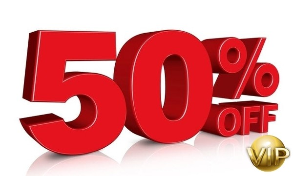 50% Discount Code & VIP Card
