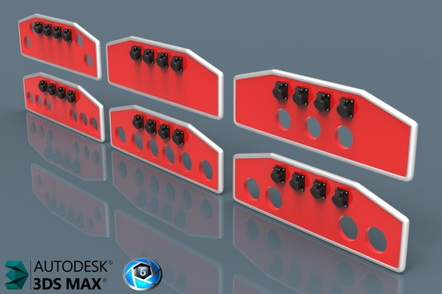 3D Mini BackCabin Panels With Connectors Pack