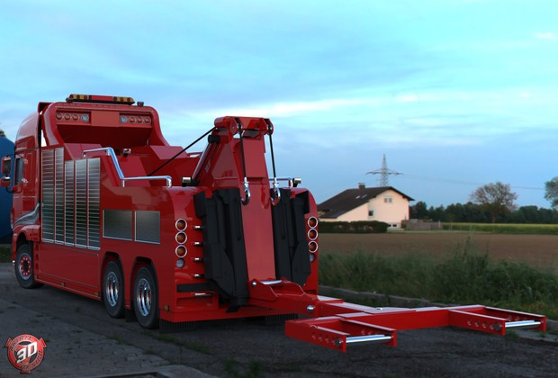 3D DAF XF 106 Recovery Service Truck