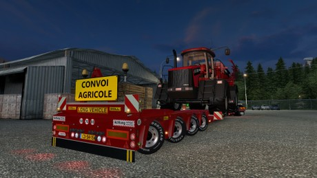 ETS2 4 Axled Doll Trailer Model With Case Titan Load