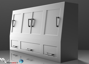 3D Chromed Lockers Model