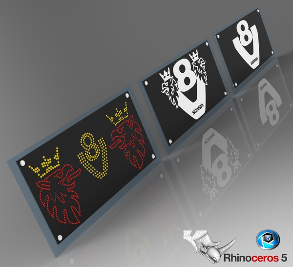 3D Scania Glass Led Boards For Interiors