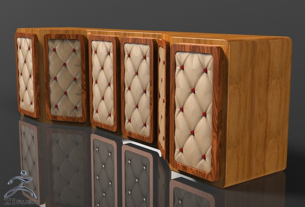3D Interior Leather Cabinets