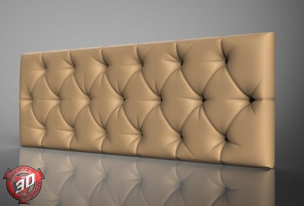 3D New Leather Design Panel Model