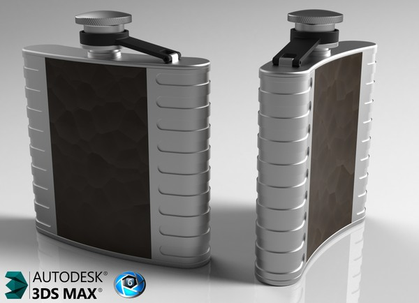 3D Whisky Flask Model