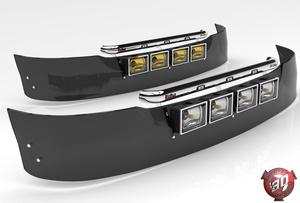 3D Daf SunVisor With Hella Lights Model
