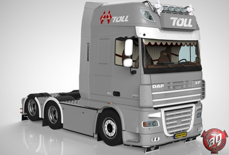 3D Daf XF 105 6x2 Version II