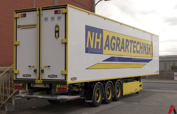 3D Chereau Trailer AGRARTECHNIK Edition Model