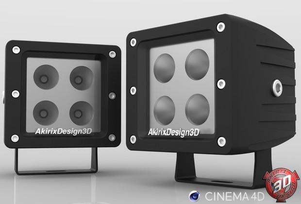 3D WorkLight Lamp Model