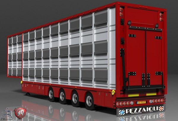 3D Pezzaioli Trailer Model Version 2
