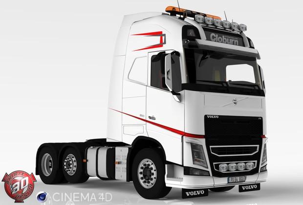 3D Volvo FH Cloburn Edition