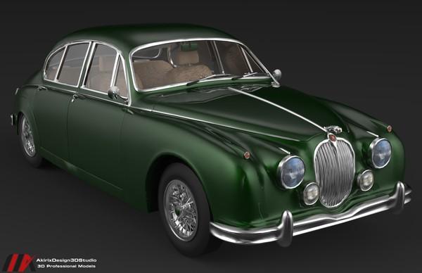 3D Jaguar MK2 1963 Series Car Model