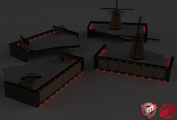3D Led Scania Table Pack