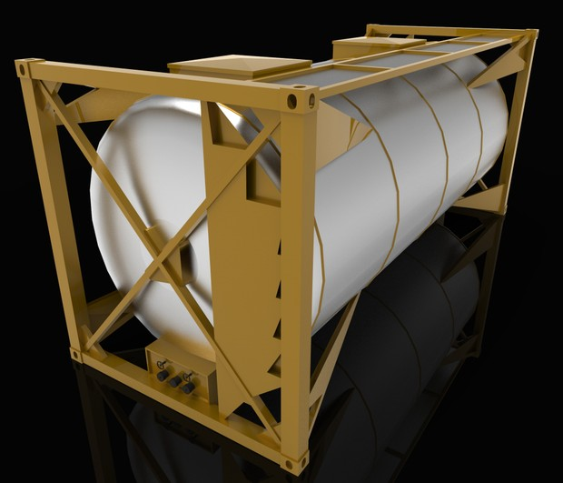 3D Model container frame 20ft gas transport