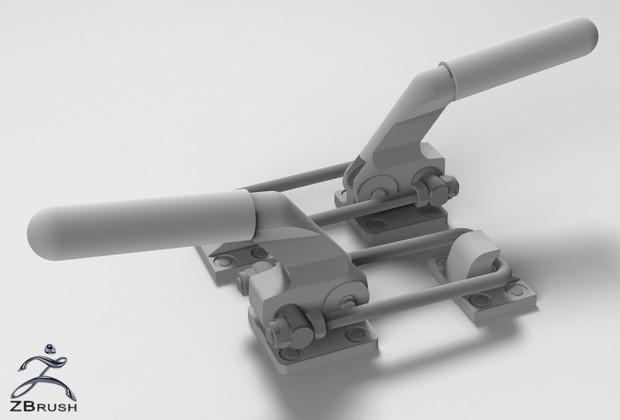 3D Handles For Trailer Model
