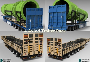 3D 4 Axled Trailers Pack