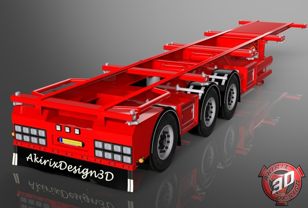 3D Container Trailer