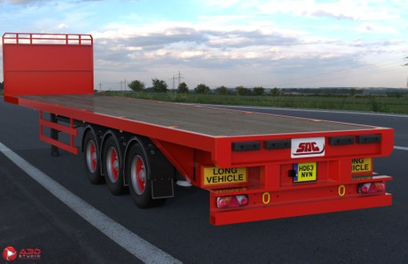 3D SDC Flatbed Trailer Model