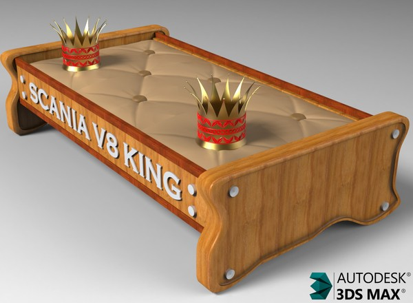 3D ScaniaV8King Table