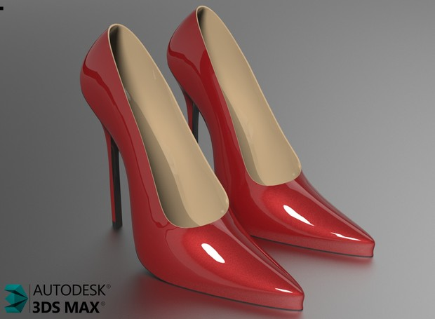 3D Lady Shoes For Truck Interiors Model