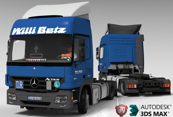 3D MB Actros 1844 Model