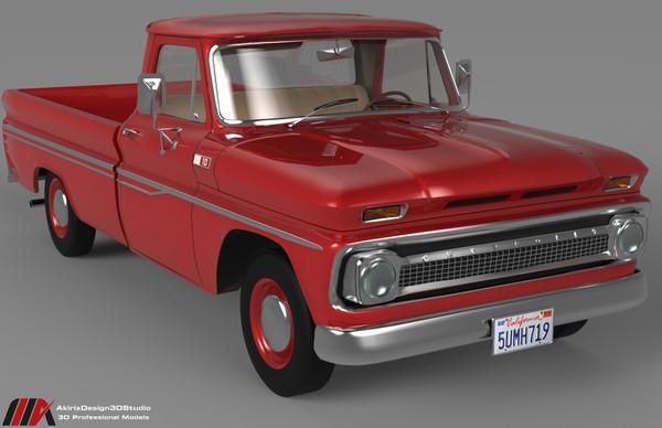 3D Chevrolet  C10 1965 Series Pickup Model