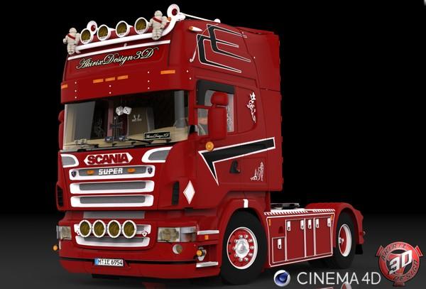 3D Scania R500 V8