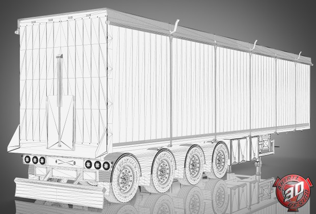 3D Brian Nielsen Trailer Model