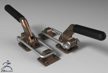3D Handles For Trailer Model