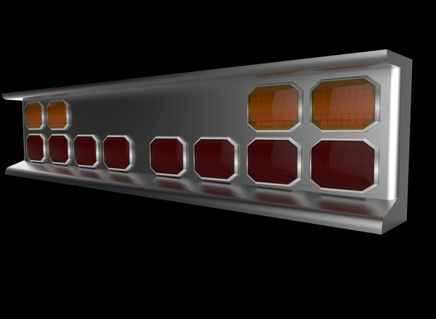 3D bumper with squared led lights