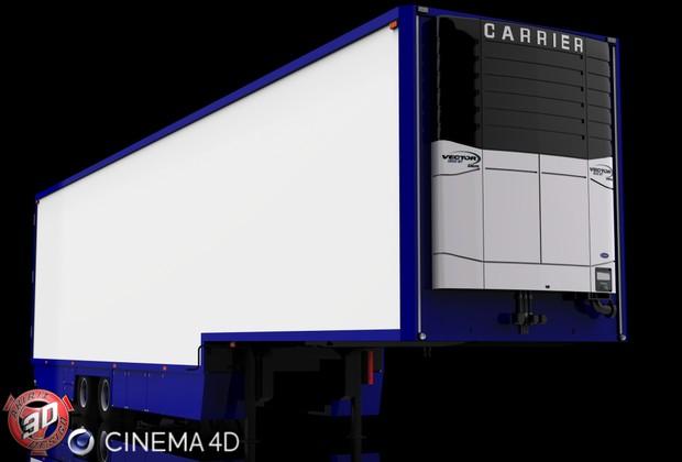 3D 2 Axles Flower Trailer Version II