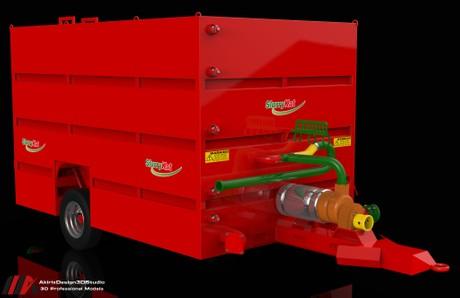 3D Slurry Kat Nursery Tanker 40m3 Trailer