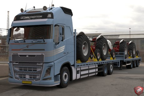 3D Volvo FH13 Tandem With Tractors Load by AkirixDesign3D